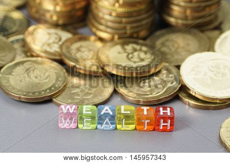 Wealth Word On Dice