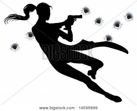 Gunfight Action Woman