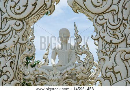 The White Buddha Statue Wat Rong Khun