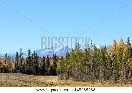 Beautiful nature of the Tunkinsky valley, Siberia