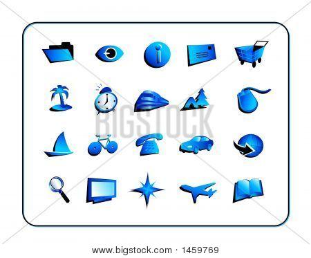 Icon Set General - Blue
