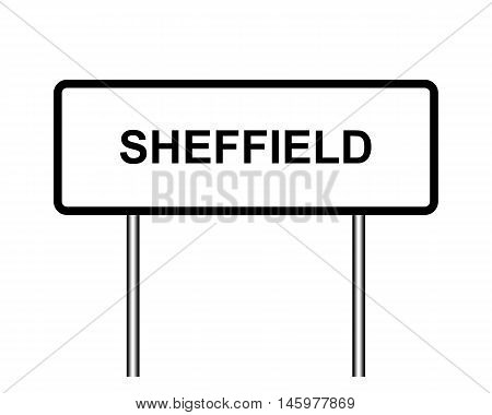 Uk Town Sign Illustration, Sheffield