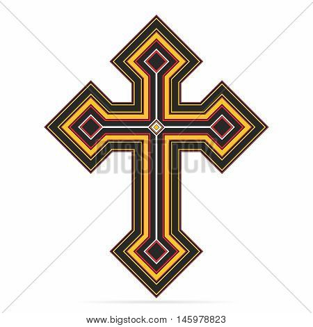 Vector Creative Christian Crucifix Cross Illustration isolated on white background