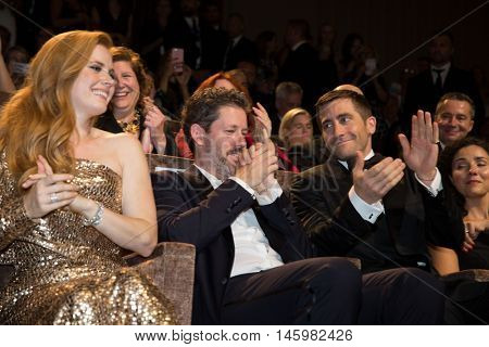 Amy Adams, Jake Gyllenhaal   at the premiere of Nocturnal Animals at the 2016 Venice Film Festival. September 2, 2016  Venice, Italy