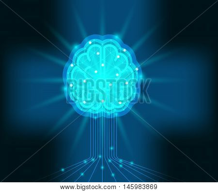 brain storm intelligence brain human brain power brain concept vector illustration