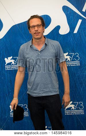 Reda Kateb at the photocall for Les beaux jours d'aranjuez at the 2016 Venice Film Festival. September 1, 2016  Venice, Italy