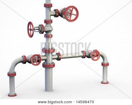 Oil Valves system.