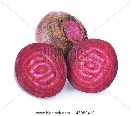 Closeup Beetroot on white background. Beetroot. food