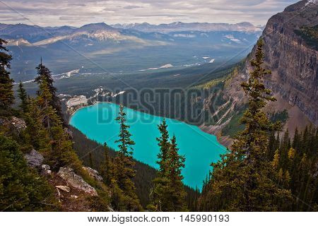 Lake Louise - the view from Anite lake