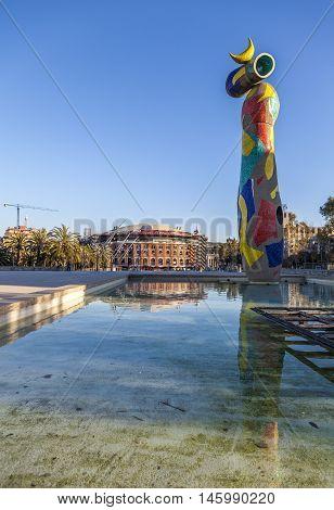 Sculpture Of Miro In Barcelona