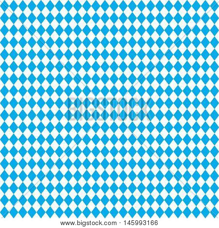 OCTOBERFEST blue geometric seamless pattern. Bavarian flag pattern, Seamless, Oktoberfest. October beer festival Vector illustration, blue color. Germany's Oktoberfest world's biggest wine festival.