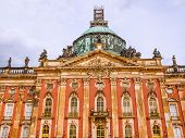 High dynamic range HDR Ruins of the Neues Palais new royal palace in Park Sanssouci in Potsdam Berlin poster