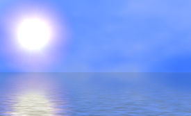 Sunny Sky And Blue Ocean