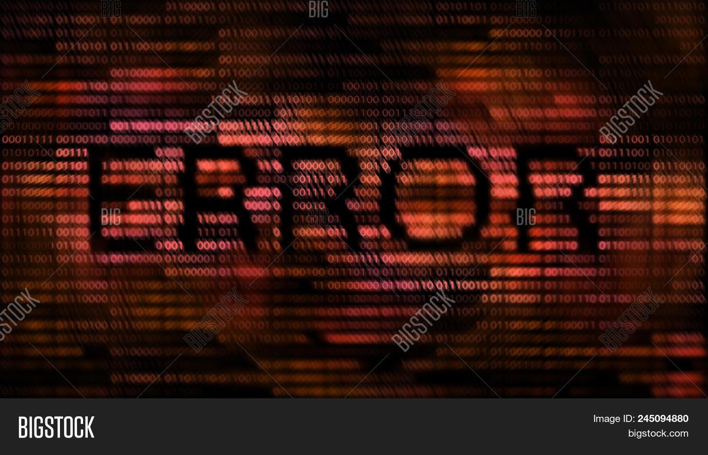Red Binary Code Error Image & Photo (Free Trial) | Bigstock