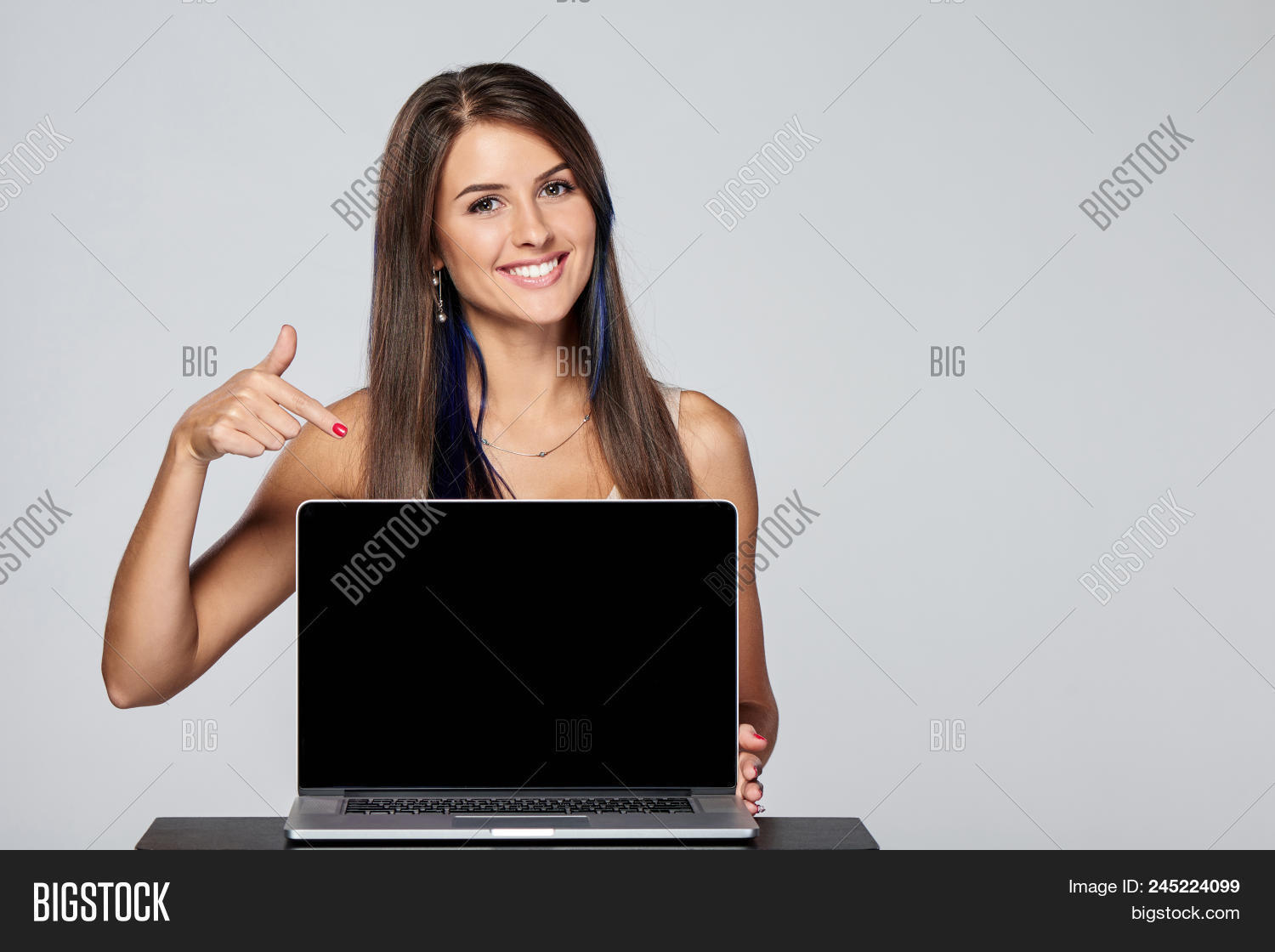 Happy Woman Showing Image & Photo (Free Trial) | Bigstock