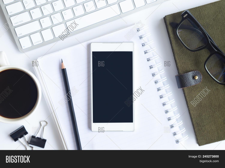 White Desk Office Image & Photo (Free Trial)   Bigstock