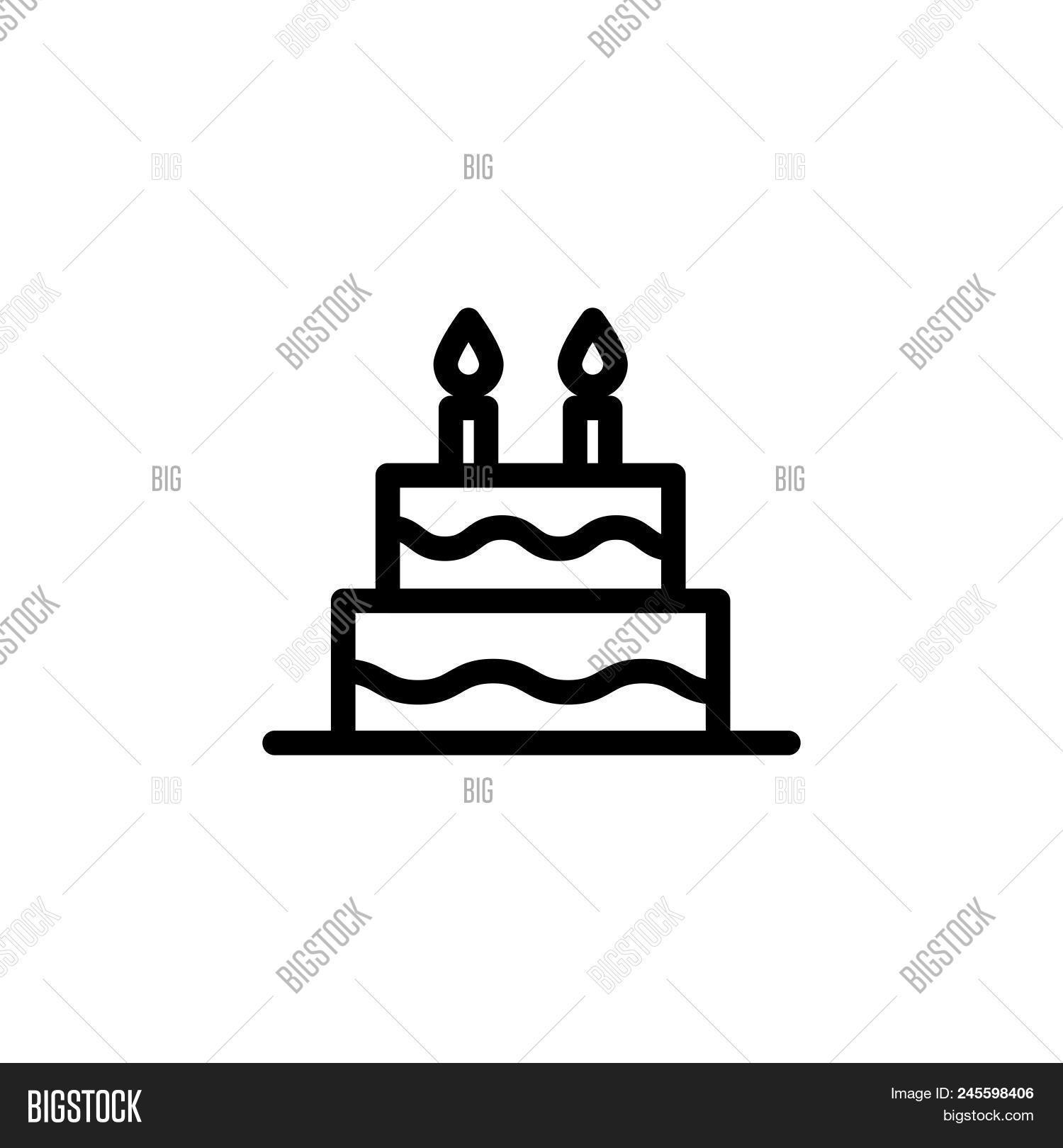 Birthday Cake Vector Vector Photo Free Trial Bigstock