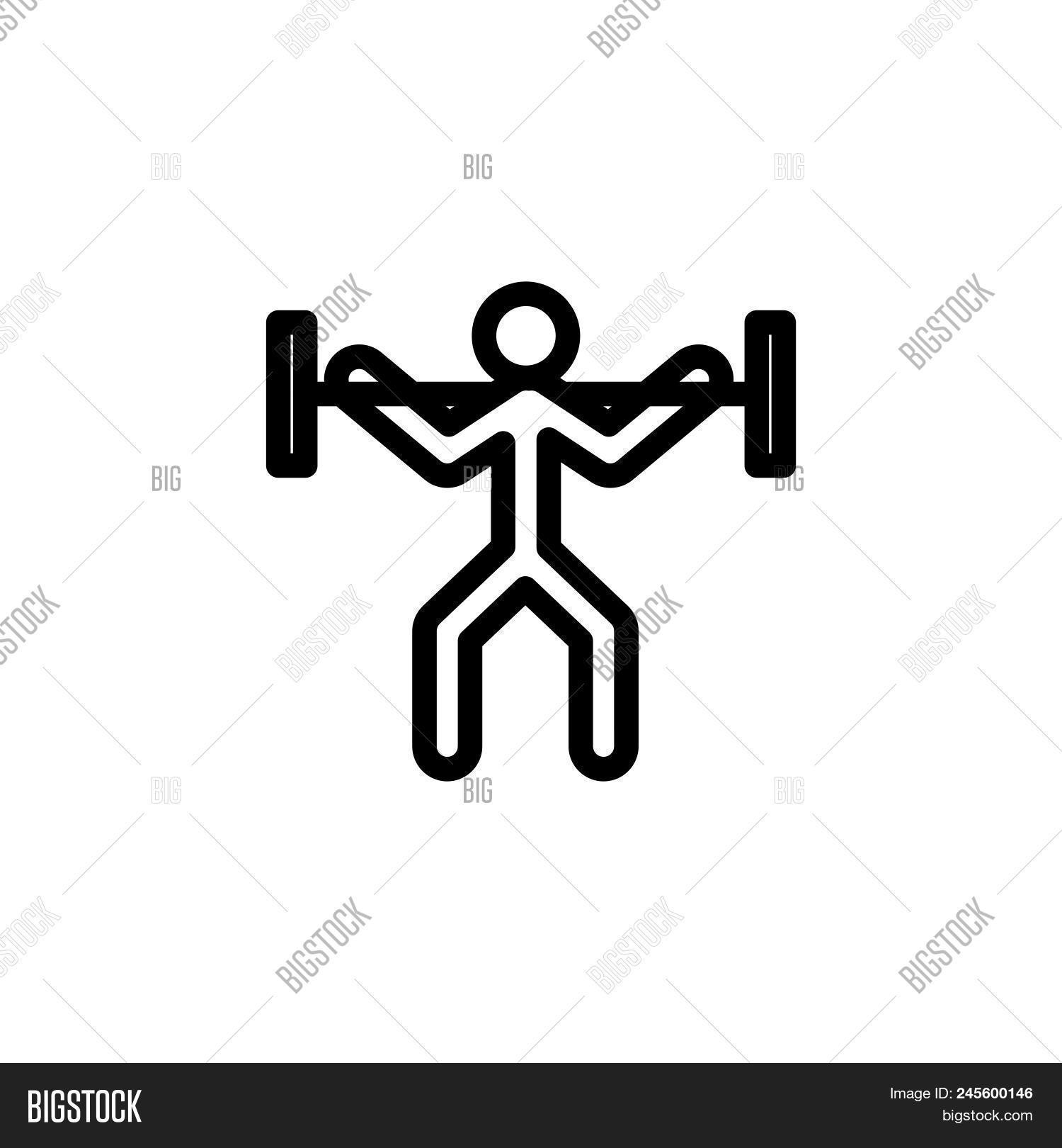 Powerlifting Vector Vector & Photo (Free Trial) | Bigstock