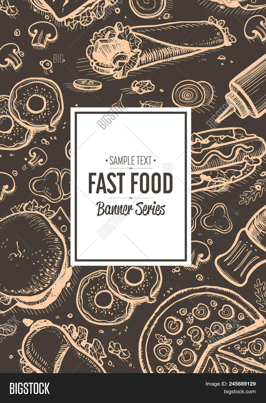 fast food cafe menu image & photo (free trial) | bigstock