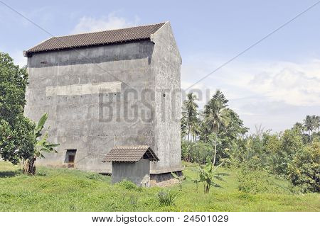 Large building housing swallow nests
