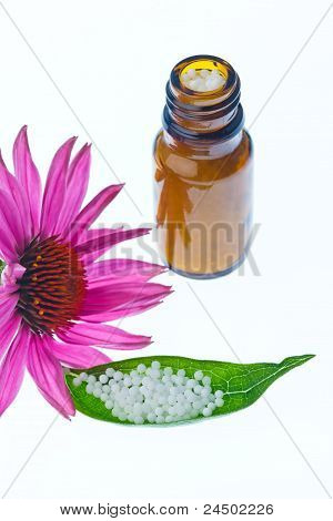 homeopathy. globules as alternative medicine
