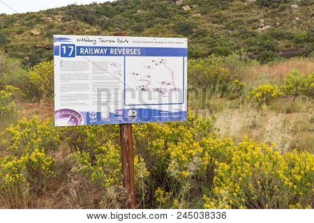 Lady Grey, South Africa - March 29, 2018: Information Sign Describing The Use Of Railway Reverses On