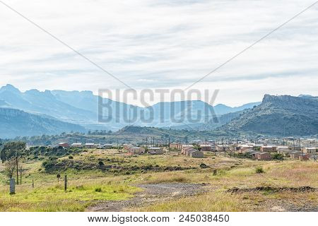 Lady Grey, South Africa - March 29, 2018: View Of A Township In Lady Grey In The Eastern Cape Provin