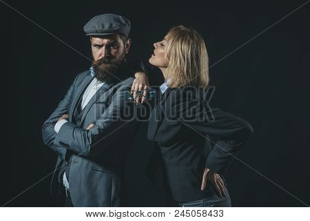 Couple Detective Investigator Partners. Partnership Clever Cunning Reporter Investigator. Couple Dre