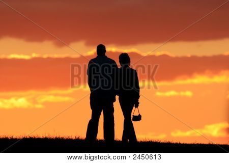 Romanic Couple Walking
