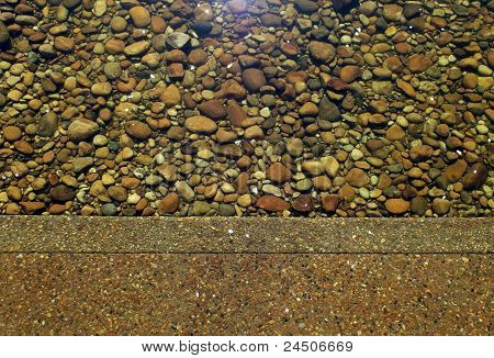 Cement and stones