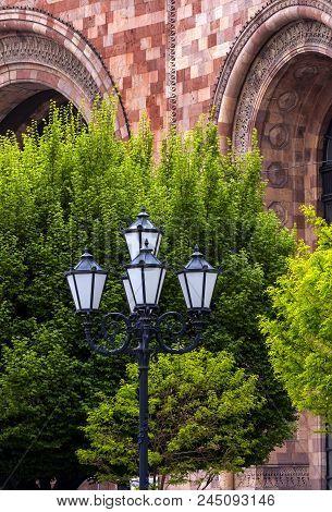 Old Beautiful  Lamppost In The Center Of Yerevan,armenia.