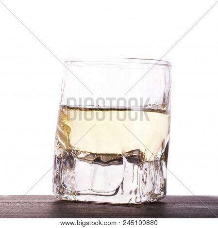 Whisky Shot Over White