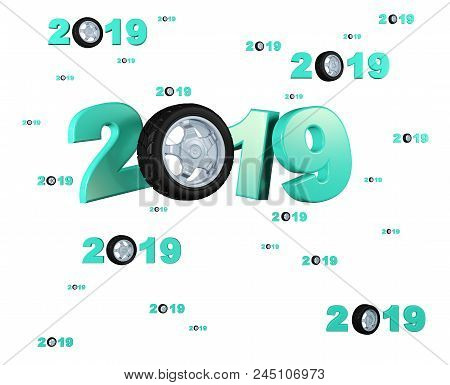 3d Illustration Of Many Sport Wheel 2019 Designs With Many Wheels On A White Background