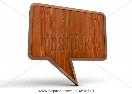 Wood Speech Bubble