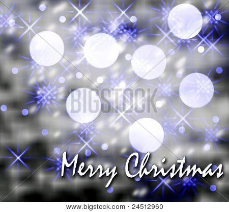 Christmas card on blue
