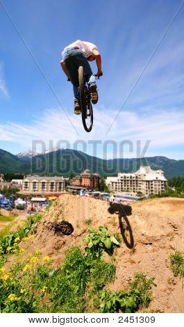 Bike In Flight