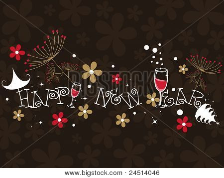 abstract background for happy new year celebration