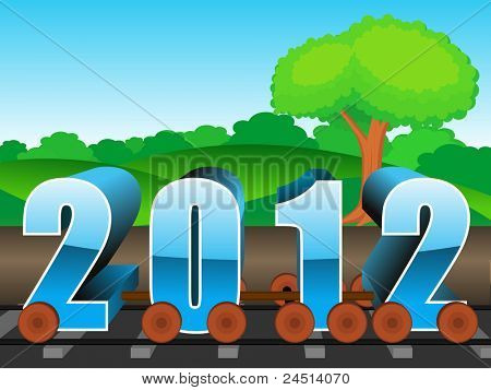 vector for upcoming new year 2012