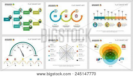 Colorful Statistics Or Economy Concept Infographic Charts Set. Business Design Elements For Presenta