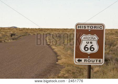 Historic Arizona Route 66 Sign