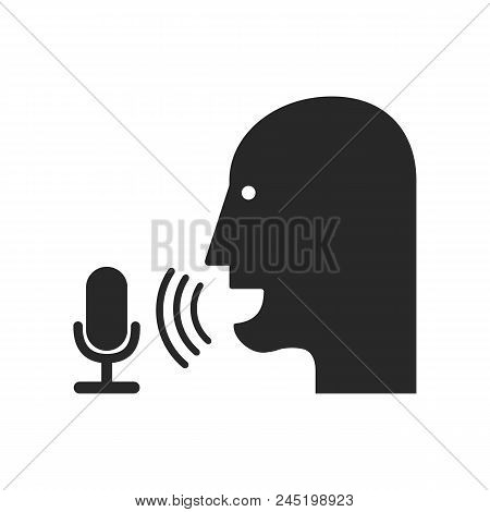 Voice Record Icon. Isolated On White Background