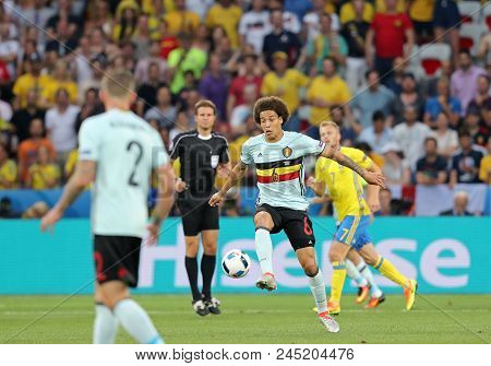 Nice, France - June 22, 2016: Axel Witsel Of Belgium Controls A Ball During The Uefa Euro 2016 Game