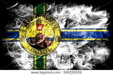 Little Rock City Smoke Flag, Arkansas State, United States Of America