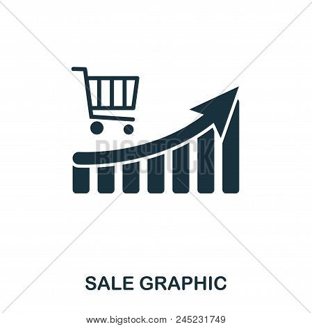 Sale Increase Graphic Icon. Mobile Apps, Printing And More Usage. Simple Element Sing. Monochrome Sa