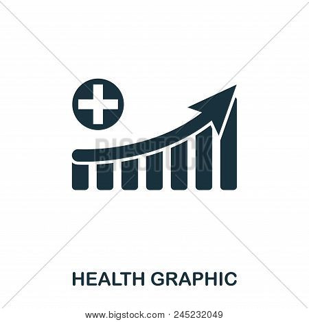 Health Increase Graphic Icon. Mobile Apps, Printing And More Usage. Simple Element Sing. Monochrome
