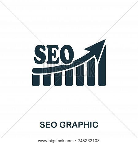 Seo Increase Graphic Icon. Mobile Apps, Printing And More Usage. Simple Element Sing. Monochrome Seo