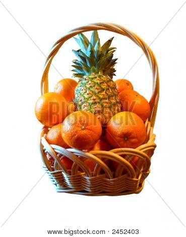 Basket With Fruits