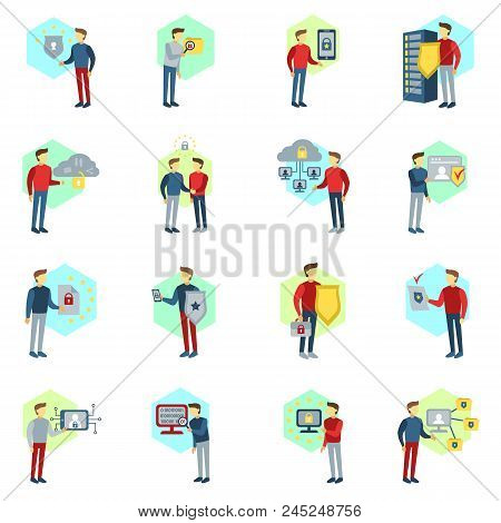 Gdpr Vector Set. General Data Protection Regulation Icons And Badges Vector Collection. Gdpr Process