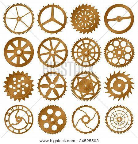 Set Of Vector Design Elements - Watch Gears
