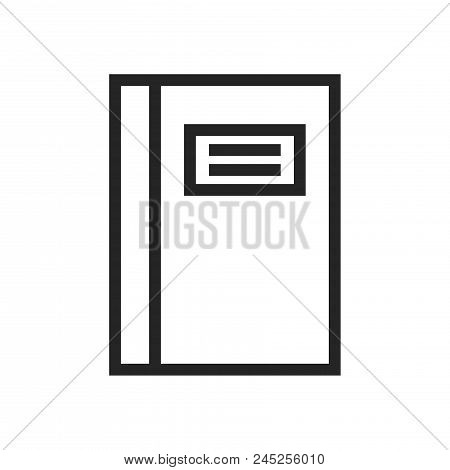 Notebook Icon Simple Vector Sign And Modern Symbol. Notebook Vector Icon Illustration, Editable Stro